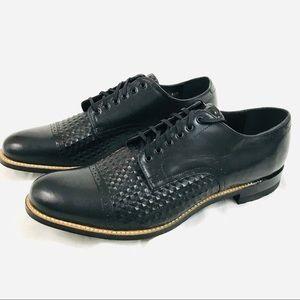 Stacey Adams Cap Toe 11 D Black Leather